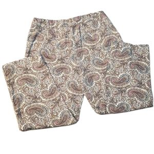 Talbots The Perfect Crop Paisley cropped p…